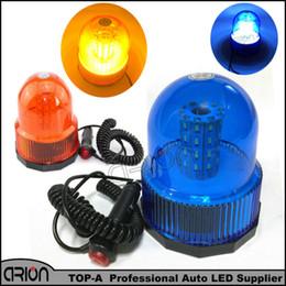 Wholesale emergency flashing led light bar - Blue Amber 40 SMD 40 LED Car Auto Truck Flashing Warning Lights Police Fireman Beacon Strobe Emergency Light Bar 12V 24V
