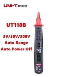 Wholesale Multimeter Autorange - Handheld UNI-T UT118B Pen Type Meter Digital Multimeter DC AC LCD Test Autorange
