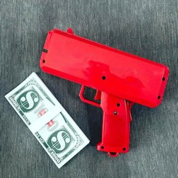 Wholesale SupremE Cash Cannon Money Gun SS17 Fashion Toys Make It Rain Money Gun Red Christmas Gift Toy Not Include Battery