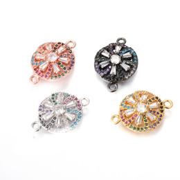 Jóias pavimentar cristais conectores on-line-4 cores pavimentadas micro conector de cristal baeds forma redonda micro pave charme para fazer jóias, ICSP160, tamanho 19.2 * 13.8mm