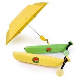 Wholesale Uv Light Sun - Beauty Women UV Protection Sun Rain Umbrella Novelty Folding Yellow Green Banana Umbrella BS