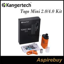 Wholesale Flow Designs - Kanger Togo Mini Kit 2.0 4.0 2ml 4ml Capacity 1600mah Battery Symmetrical Air Flow Slim AIO Design Leak Resistant Top Fill Cup 100% Genius