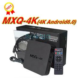 Wholesale Iptv Set Top Box Hd - 14PCS MXQ Pro 4K Android TV Box Rockchip RK3229 Smart TV Box Quad Core Support 4K x 2K H.265 4K IPTV Media player Set-top box
