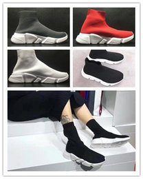 Wholesale Speed Shoes For Men - 2017 Speed sock high quality Speed Trainer running shoes for men and women sports shoes Speed stretch-knit Mid sneakers ,