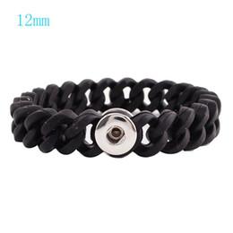Wholesale Mini Charm Bracelets - Partnerbeads Mini Snap Bracelet high quality Silica gel Snap base jewelry Fit 12mm Ginger Snap button KB9721-S