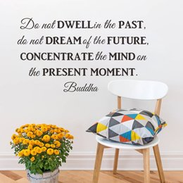 Wholesale Inspirational Vinyl Wall Decals - Do not dwell in the past inspirational quotes wall stickers decal Living room bedroom School decoration wall art
