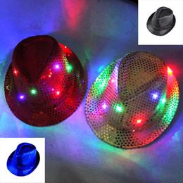 ha condotto il cappello del cappello del cappello Sconti Berretto luminoso da 10 LED con cappelli a forma di lampeggiante
