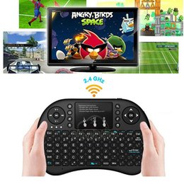Wholesale Smart Tv Keyboards - Rii I8 Smart Fly Air Mouse 2.4GHz Wireless Bluetooth Keyboard Touchpad White Multi-color Backlit S905X S912 TV Android Box T95 X96 Remote