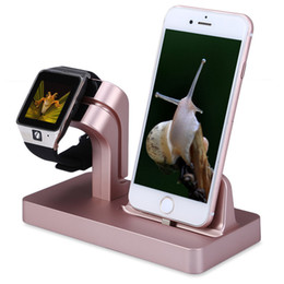 Wholesale Desktop Charger Iphone Dock - Charging Stand Bracket Docking Station Stock Cradle Holder for iPhone Apple Watch 38mm 42mm Lazyman Desktop Stand Charger