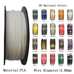 Wholesale Pla Plastic 3d Printer - Multicolor PLA 3.00mm Filament 3D Printer Filament 1KG SPOOL Plastic Rubber Consumables Material 3D Printer Filament