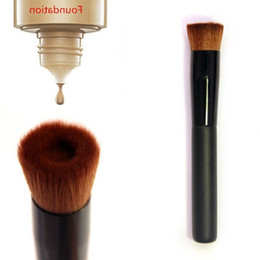 Wholesale liquid hair - Black Handle Brush Concave Foundation Concealer BB Cream Makeup Cosmetic Brush Tool Multifunction Liquid Foundation Brush