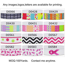 Wholesale Mixed Grosgrain Ribbon Printed - NOT MIXED 9 16 22 25 38 50 75mm Carton113 Printed Grosgrain Ribbons for Hair DIY Baby Kid Craft Party Gift Packaging 100 Yards for 1 Pattern