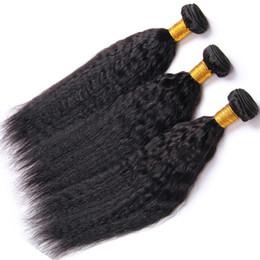 Wholesale Cheap Yaki Hair Weave - Cheap Malaysian Hair Weaves Bundles Yaki Striaght 8inch-30inch Peruvian Brazilian Indian Human Hair Extensions Deable Free Shipping