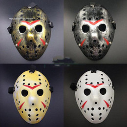 Wholesale Jason Face - Wholesale-Halloween cosplay costume Porous Mask Jason Voorhees Friday The 13th Horror Movie Hockey Mask