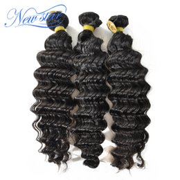 Wholesale long curly human hair weave - Wholesale-new star peruvian virgin hair deep wave curly style 100% unprocessed human hair last longer natural color can be bleached colors