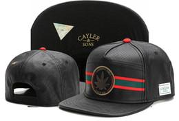 2017 nouvelle arrivée réglable Cayler Sons FUMER BON CINCE 1921 feuille de métal en cuir casquettes de baseball Hip Hop Snapback chapeaux hommes Casquette ? partir de fabricateur