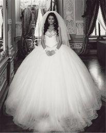 Wholesale Vestidos Plus Size China - Wedding Dresses China Vestidos De Novia Tallas Grandes 2017 Sweetheart White Ball Gown Princess Wedding Dress with Rhinestones