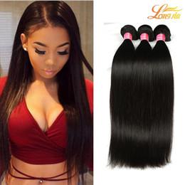 Wholesale high quality virgin brazilian hair - Wholesale 7A Brazilian Virgin Human Hair Bundles Extension Brazilian Straight Hair Natural Color Cheap Hair but High Quality Free Shipping