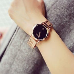 Wholesale Hk Calendar - Luxury Fashion HK Brand GUOU Watch Women Dress Wristwatch Ladies Bracelet watch clock Calendar Quartz Watches for girl gift 2016
