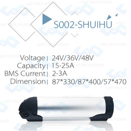 Wholesale Battery For Ebike - Bottle Type 36V 10.4AH E-bike Battery free shipping ICR18650 26F cell 36V li-ion Battery For 500W Ebike with BMS+2A charger