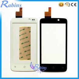 объектив 3 м Скидка Wholesale- 4.0 inch Mobile Phone Touch Screen Digitizer For  IQ447 IQ 447 ERA Life1 Front Glass Panel Lens Touchscreen Sensor+3M Stciker