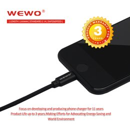 Wholesale I5 C - WEWO Fast Charger USB Cables for iPhone 6 s Plus i6 i5 Sync Data High Quality USB Charger Cable with retail package