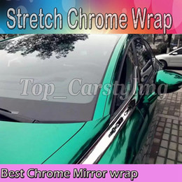 Wholesale Chrome Wrap Cars - Best Quality Stretchable Mint Green Chrome Mirror Vinyl Wrap Film for Car Styling foil air Bubble Free Size:1.52*20M Roll(5ft x 65ft)