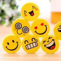 Wholesale Novelty Pencils Erasers - Emoji Eraser Emotion Kawaii Eraser Novelty Stationery School Supplies Wholesale Cartoon Rubber Erasers