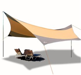 Wholesale Iron Tent - DHL Shipping High quality 550cm*560cm iron poles UV beach tent sun shelter camping tent awning tarp