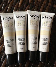 Wholesale top naked - 2017 top 24pcs NYX Concealer BB Cream 30g Moisturizing Foundation 4 Color Naked Makeup Base Isolation Body Concealer Cream Beauty Product