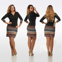 Wholesale Sexy Club Clothes Wholesale - women clothes Bodycon Casual dresses 2017 black summer club dresses Stripes Splicing Pattern sexy mini dress 940