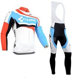 Wholesale Cycling Jersey Set Cube - Vacove Brand new mens pro team Cube cycling jersey bike Long set Ropa Ciclismo quick dry Blue cycling wear bicycle Maillot Culotte