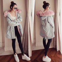 Wholesale female winter parka - Women Winter Warm Long Parkas Hooded Thick Loose Coats Cute Plus Size Clothing for Female Clothes Jackets Downs