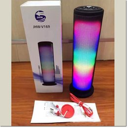 Wholesale led dancing speakers - JHW-V169 Colorful Dazzle LED Light Pulse Dancing Wireless Bluetooth Speaker home theater for samsung s6 s7 s7edge iphone 6 7 7plus