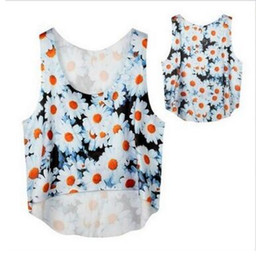 Wholesale Sexy Girls White Vest - 11 colors Tank shirt Women Fashion Vest Anime Space Galaxy 3D Print Sleeveless Short Crop Top Summer sexy Girl Camis Tanks Tops T-Shirt