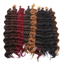 "Wholesale Deep Wave Synthetic Weave - Kanekalon Fiber Deep Wave 22"" Synthetic Hair Extensions Havana Twist Crochet Jumbo Braiding Hair Weaving Curlystyle 80g pcs"