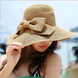 Wholesale Ladies Red Dress Hats - Wholesale- Hot Sale Women's Sun Hats for Beach Summer Holiday,Hats Female for summer,Women Summer Hats for Casual Dresses,lady straw hats