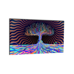 Wholesale Colourful Paintings - 1 PCS Colourful Trees Trunks Purple Canvas Painting Wall Art Spray Wall Painting Home Decor Canvas Printings For Living Room