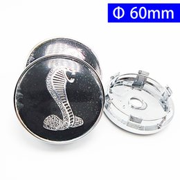 Wholesale Ford Center Caps - 54mm 56mm 60mm 64mm Car Emblem Badge Sticker Wheel Center Caps for Ford Mustang Shelby Cobra Focus 2 Focus 3 FIESTA Kuga FUSION ESCAPE EDGE