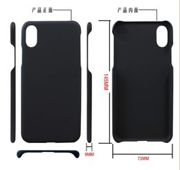 Wholesale Double Sided Iphone Case - Free shipping wholesale for iphone8 case iphone 8 case PC double side oil layer black hard cellphone case