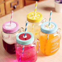 Wholesale Union Cartoons - Wholesale- Teagas Summer Fruits Union mug Baskets Square Glasses