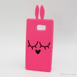 Wholesale Galaxy Note2 Phone Cases - New Cartoon Smile Rabbit Case For Samsung Galaxy Grand 2 Duos Core2 Core 2 A3 A5 A7 Note 5 4 3 2 Note2 Note5 Bunny Silicone Phone Bags Cover