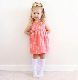 Wholesale Baby Red Striped Dress - Girls summer dress roupas infantis menina 2017 sleeveless cotton kids clothes red princess tutu waist baby girl dress