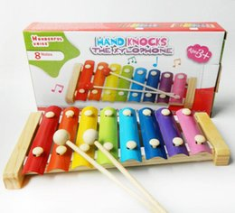 Wholesale Wooden Xylophone Baby - Wooden 8 Notes Basics Classic Xylophone,Musical Instrument Music Toys for Kids Baby with 2 Wood Mallets