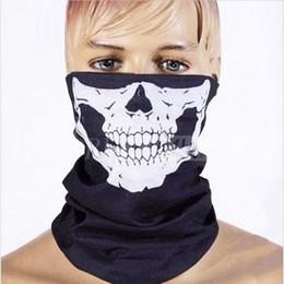 Wholesale Wholesale Scarves Sport - Halloween Skull Skeleton Party Masks Black Motorcycle Multi Function Headwear Hat Scarf Neck Sport Face Winter Ski Mask