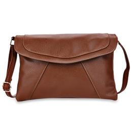 Wholesale Handbag Pu Shoulder Sling Bags - Women Shoulder Messenger Envelope Bag Small Causal Leather Girl Handbags Purses Sling Light Soft Bag