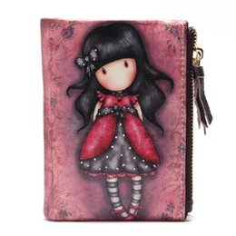 Wholesale New Style Wallets For Girls - New Cartoon Printed girl Wallets Small Zipper Leather Female Purses For Mini Cute Women Wallet Girls Card Holder Ladies Purse