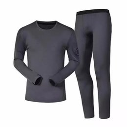 Wholesale Warm Thermal Underwear Set - Canada Women Men Warm Clothing Goose Top+Pants Thermal Underwear Set Anti-static Quick-drying Breathable Warm Suit HFTZ001