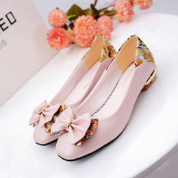 Wholesale White Bow Wedding Bag - 2017 spring and summer bow girl Korean dress shoes, ladies side shoes and bags more match, bridal wedding shoes