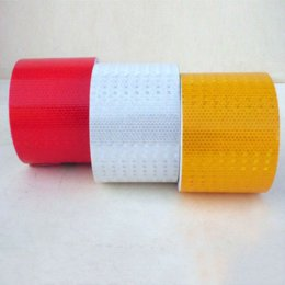Wholesale Vinyl Lattice - 5cm*1 2 3cm Lattice Reflective Tape Sticker Car Styling Automobile Safe Material Truck Motorcycle Cycling Warning Mark Strip DIY